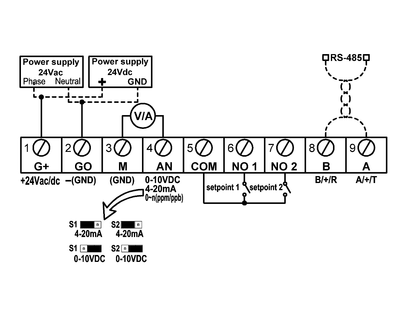 Dotech Sensing Control 10vdc Wiring Diagram Connection
